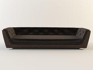 gekka velvet sofa indahouze 3d max