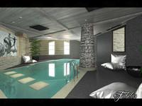indoor swimming pool 3d model
