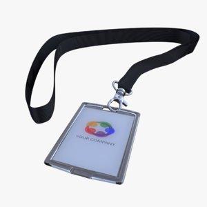 3d badge modelled blender model