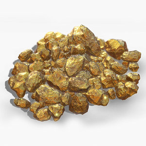 3d gold nugget model