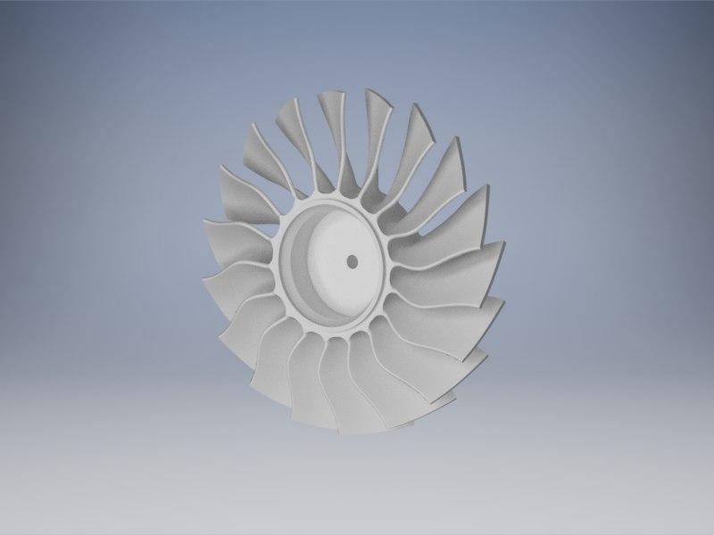 jet engine fan 3d model