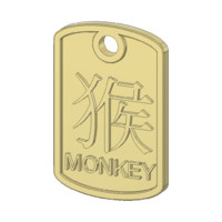 monkey zodiac pendant 3d 3ds