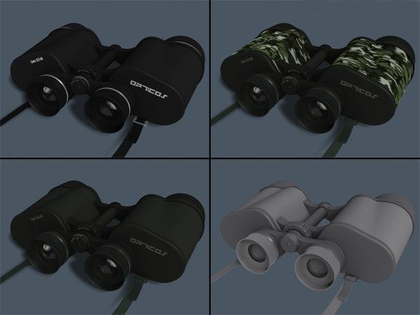 binoculars modeled 3d model