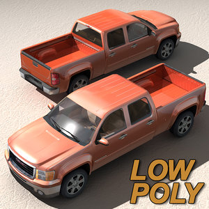 3d model pickup gmc sierra