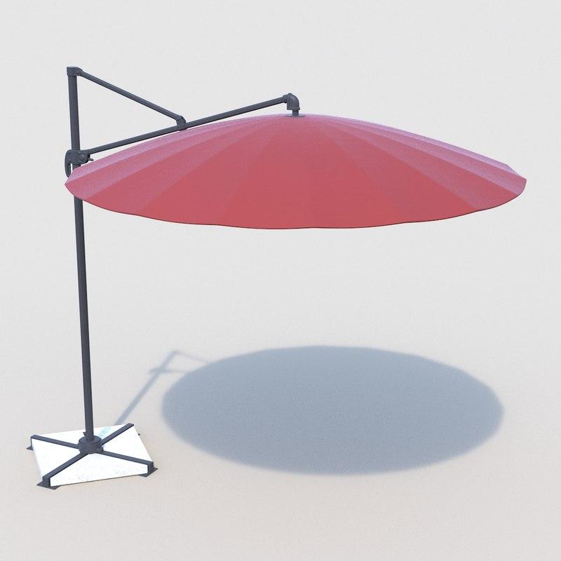 umbrella patio r 3d model