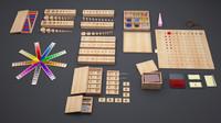 3d model of montessori materials