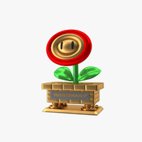 3ds flower trophy