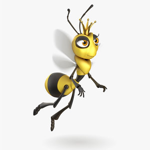 funny bee animation obj