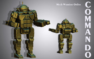 3d 3ds ready print commando mech warrior