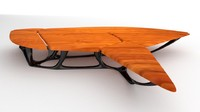 3d blender futuristic abstract table model