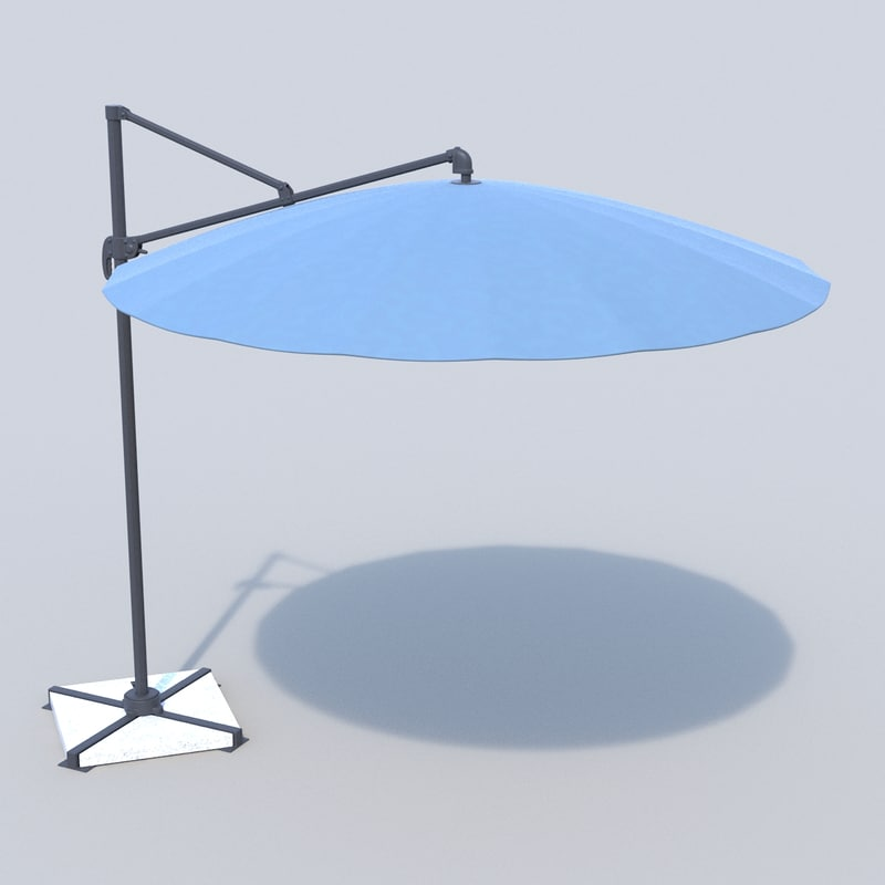 3d model umbrella patio b