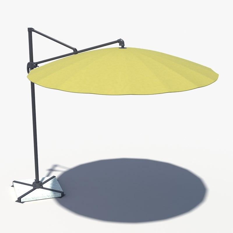 3d umbrella patio l model