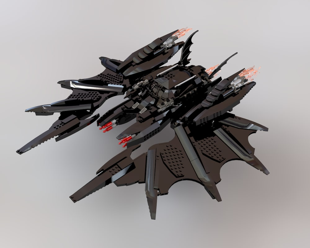 3d lego batwing model