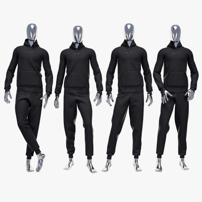3d model of male sport suit