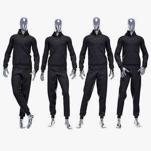 3d model of male sport suit