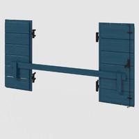 3d shutters mediterranean model
