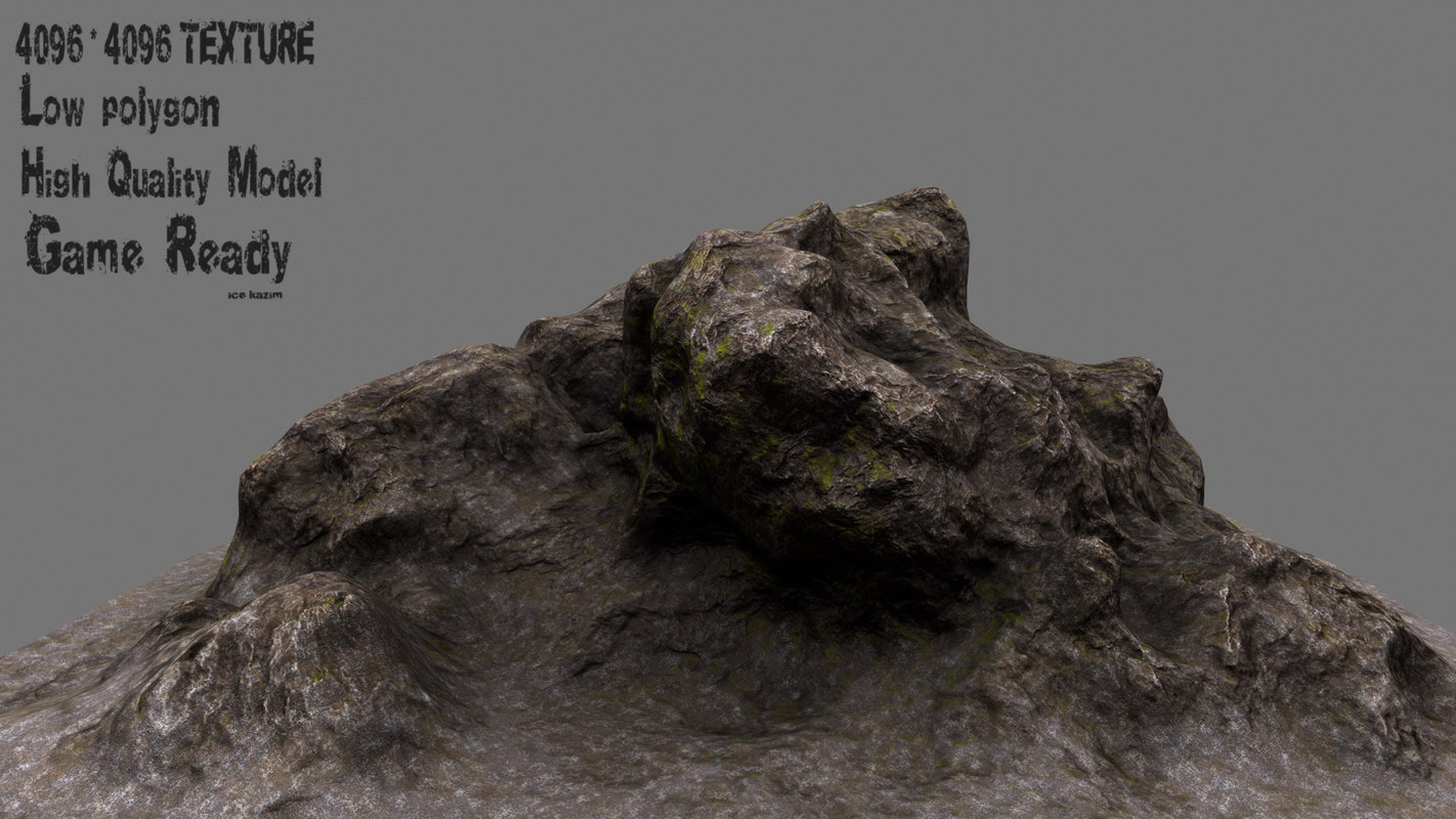 3d rock 1 model