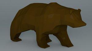 3ds grizzly bear cartoon