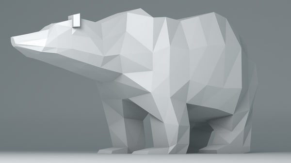 polar bear cartoon 3d obj