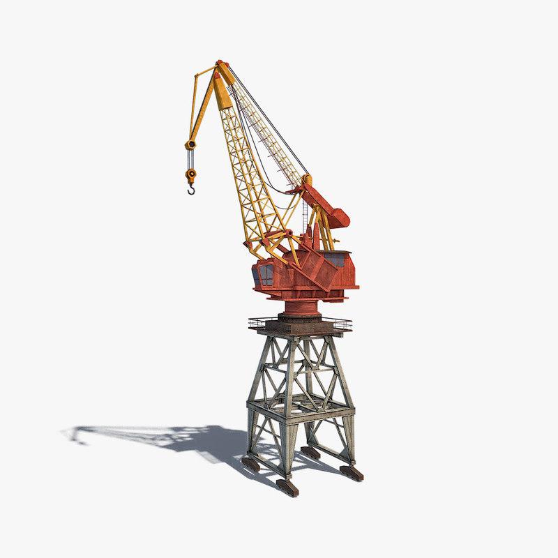 3d model dock crane