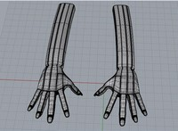 human hand 3ds