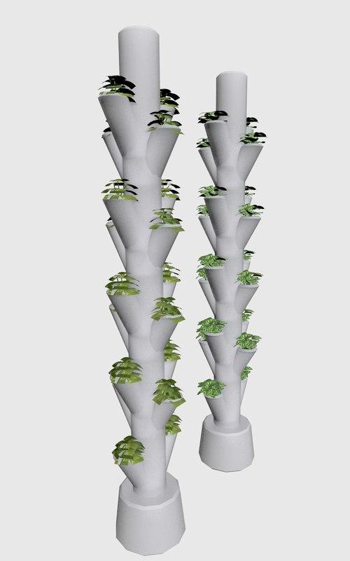 vertical planting 3d model