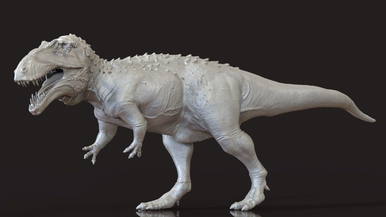 3d dinosaur acrosaurus model