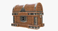 3ds wooden chest