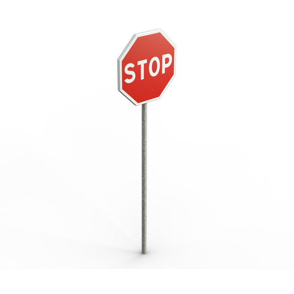 free max model stop road sign