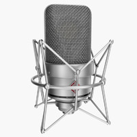 neumann tlm 49 rigged 3d model