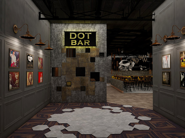 bar design light 3d model