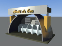 Collection 3d bus stop