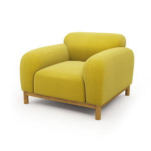 brady armchair 3d model