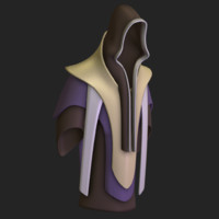3d robe magic model