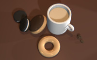 donuts and coffee scene