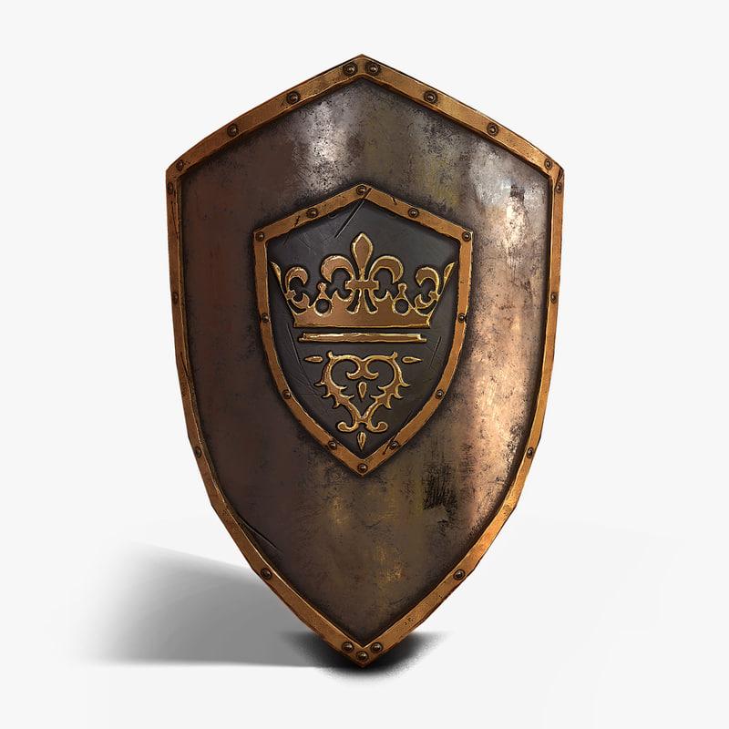 max medieval king shield