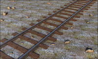 3d model of train railway rail