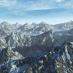 alaska mountain range lake max