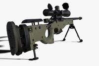 3d model sniper rifle l96a1