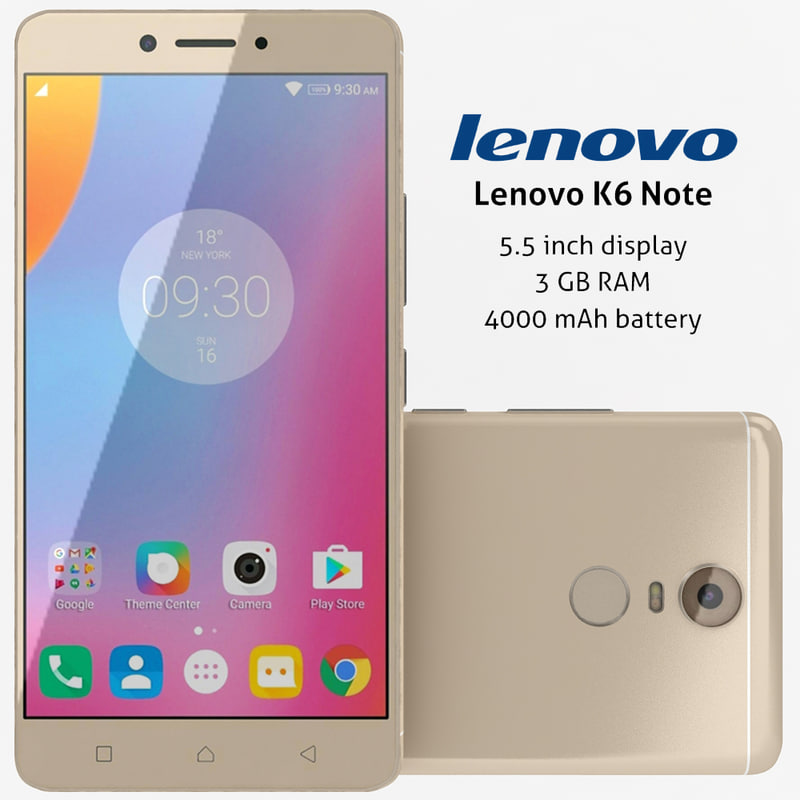 lenovo k6 note gold 3d max