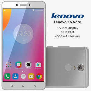 lenovo k6 note silver 3ds