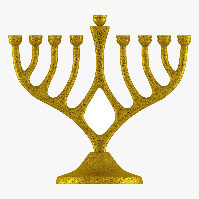 menorah gold 3d 3ds