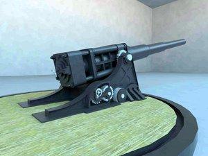 3d model cannon