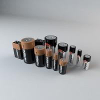 duracell energizer batteries 3d model