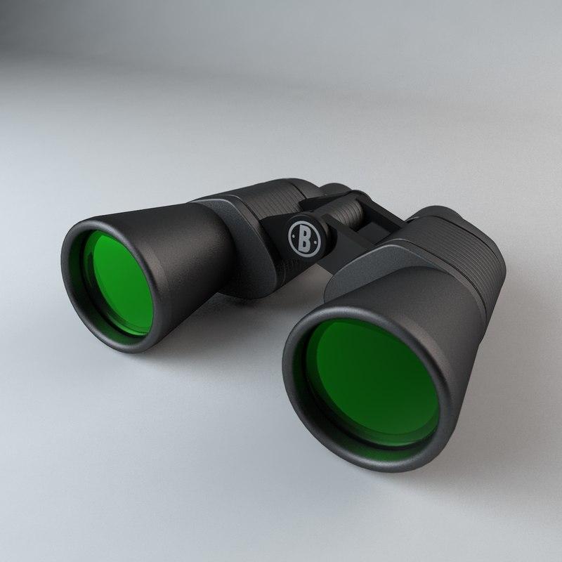 bushnell binoculars 3d model