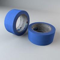 Blue Masking Tape Roll