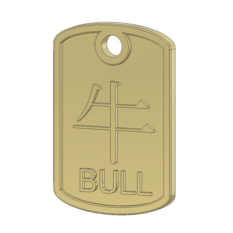 bull pendant 3ds