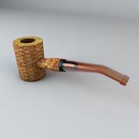 3d corn cob pipe model