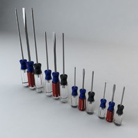 set screwdrivers 3d c4d