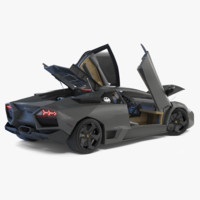 lamborghini reventon rigged car 3d 3ds
